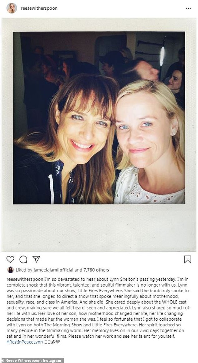 Little Fires Everywhere star Reese Witherspoon paid tribute to Shelton after her death. Shelton has now been nominated for her work on the hit Hulu show