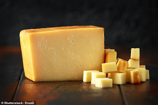 Cheese (pictured) and butter are other examples of full fat foods that can improve your health, according to the research