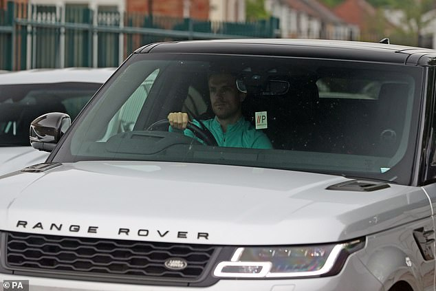 Liverpool captain Jordan Henderson arrives at Melwood club training base on Tuesday