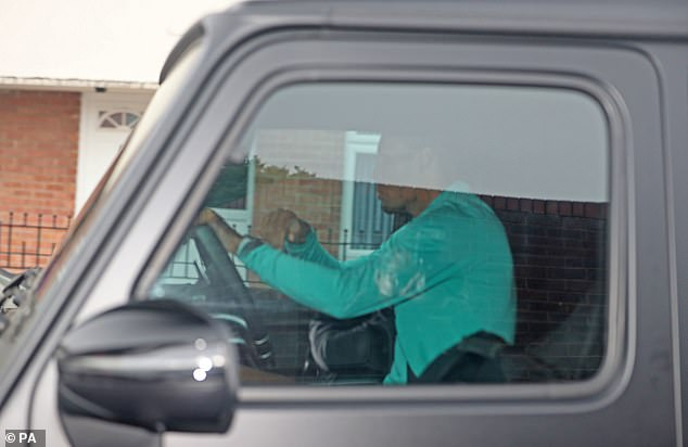 Virgil van Dijk was photographed driving his last solo session before returning to group training