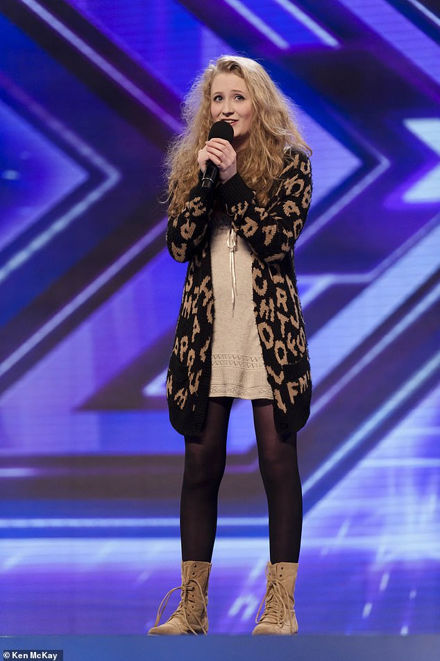 Janet Devlin, pictured during her X-Factor audition, found glory after appearing on reality TV in 2011, where she finished fifth at the age of 16.