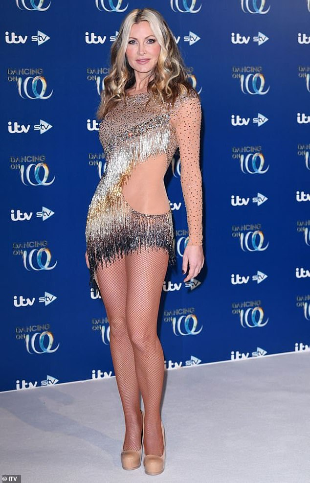 Weight loss: Caprice has revealed that she lost more than a stone amid the 'stress' she endured during her stint on Dancing On Ice earlier this year. Pictured on the show in January