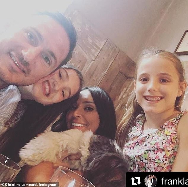 Family: Chelsea manager Frank is also dad to daughters Luna, 14, and Isla, 13, with ex Elen Rivas (pictured in 2015)