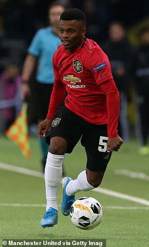 Largie Ramazani is pictured during his United debut earlier this season