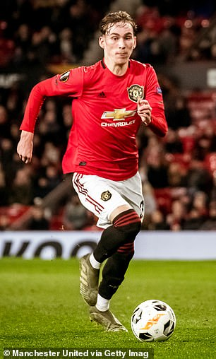 James Garner has made six appearances for Manchester United this season