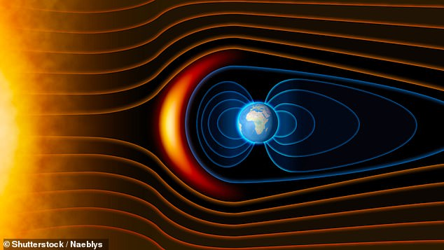 A swirling flow of iron 2,800 kilometres below the planet's surface has influenced the movement of the magnetic field during the past 100,000 years