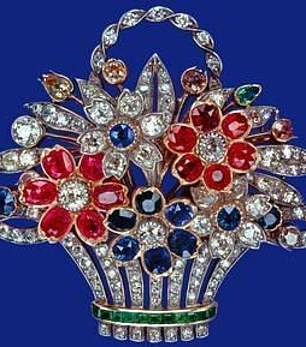 The Flower Basket Brooch was presented to the Queen by her father, George VI