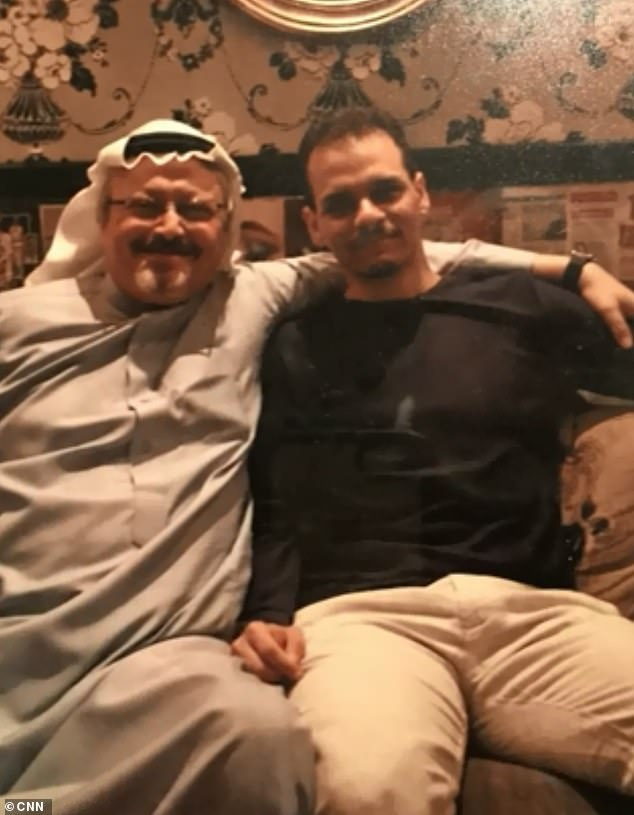 Eldest son, Salah Khashoggi with his father Jamal in an undated photo