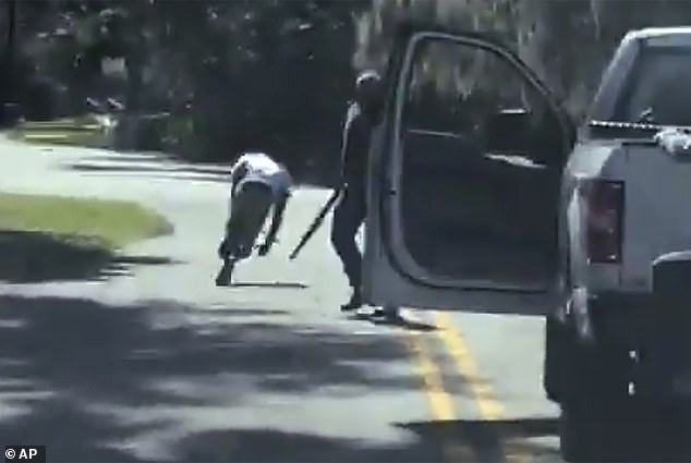 Harrowing video showed the men 'ambushing' Arbery as he tried to run past their pickup truck