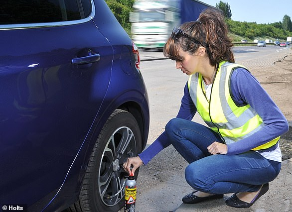 Research shows that a tyre repair kit can only fix one in five of all punctures