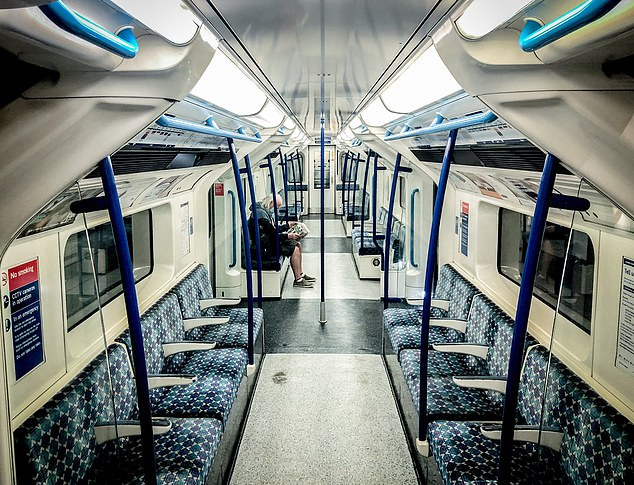 Jamie Penfold: 'My first venture back on the TfL Tube since the first week of March. There's something quite magically beautiful yet eerie travelling on the Victoria Line this morning'