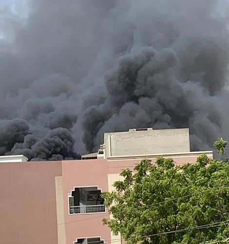Huge plumes of smoke were seen after the Pakistan International Airlines flight smashed into a residential area
