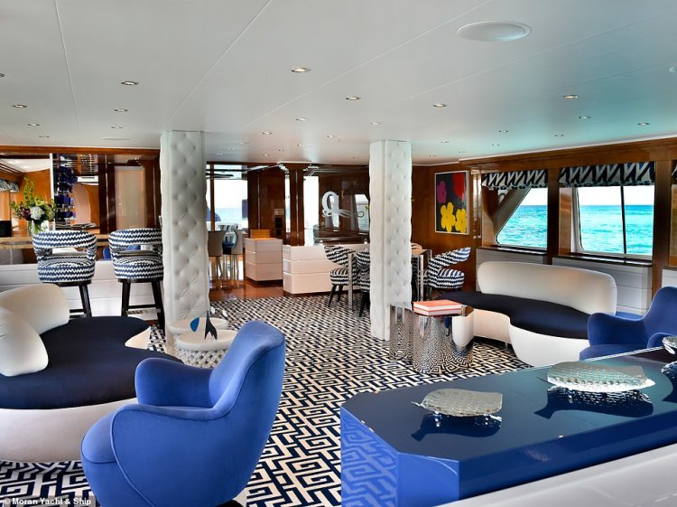 Octopussy'sinterior was also updated during its refit. Its new look is thanks to New York designer Jeff Lincoln