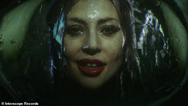 Rain on me: there are many close-ups of Gaga