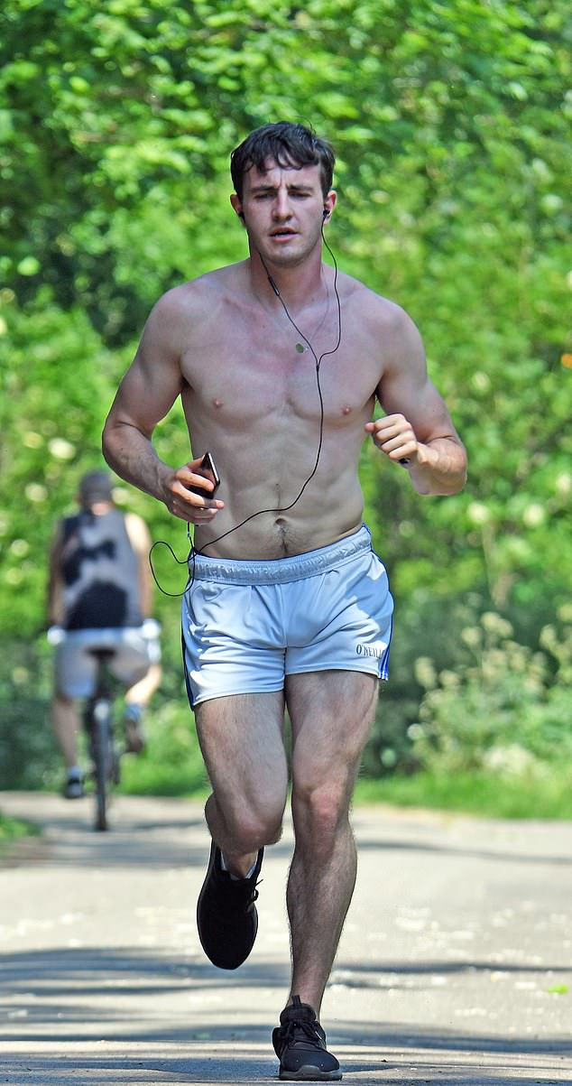 Phwoar-mal people! Paul Mescal was spotted shirtless and wearing a chain with a pendant around his neck