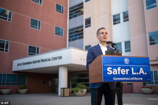 Friday, Los Angeles mayor Eric Garcetti (photo) received a letter from the Department of Justice against the