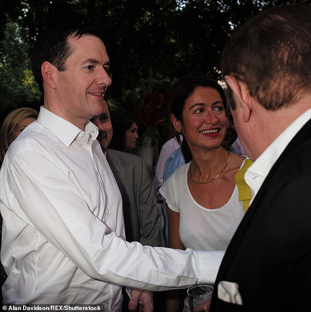 Mr Osborne gave Ms Rodgers credit for helping to shift his image while in government with a 'Caesar' style close-cropped haircut and a new wardrobe (pictured, July 2015)