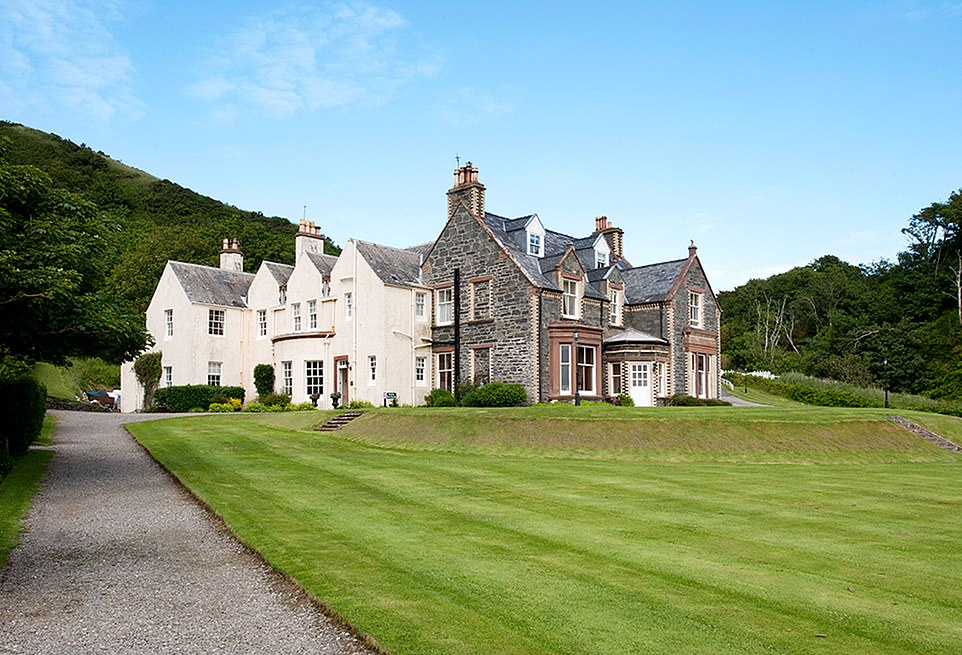 Time warp: Guests at Knockinaam Lodge in Dumfries and Galloway can stay in the Churchill Suite where the former PM fine-tuned the D-Day plans