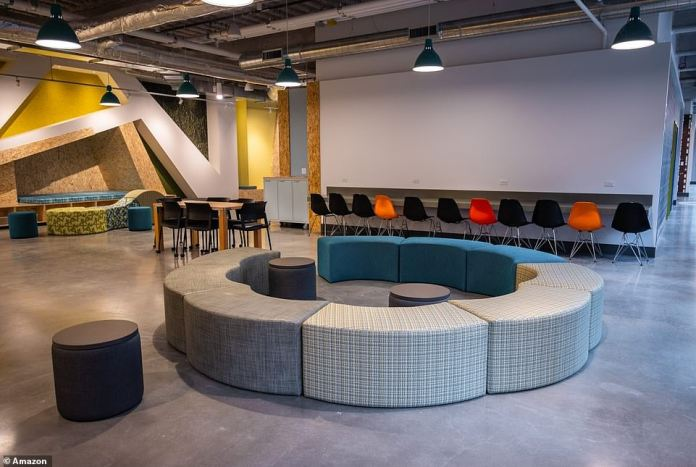 Communal meeting spaces have been set up for residents to use while practicing for job interviews or filling out school forms and getting legal help
