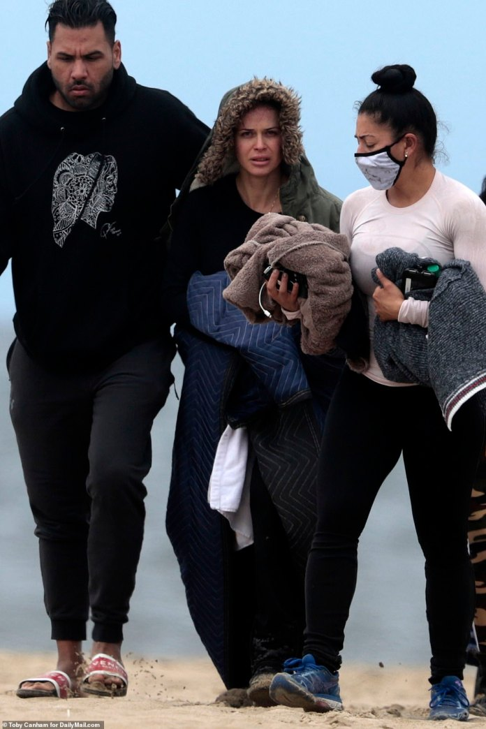 Shad Gaspard's wife Siliana was seen leaving Venice Beach comforted by close friends after a tragic incident on Sunday. On Thursday, she described Shad as a
