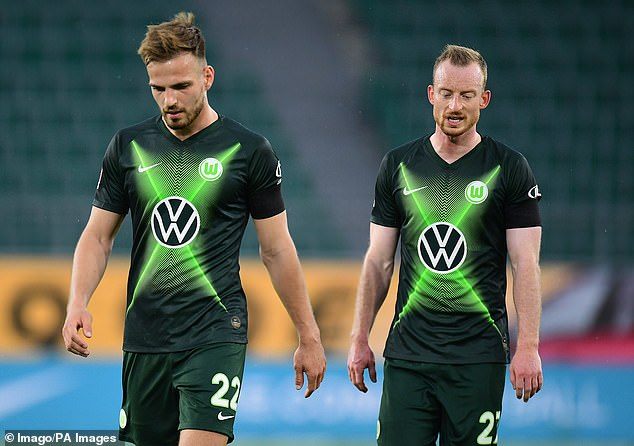 Wolfsburg had a chance early in the second half but couldn't capitalize to score