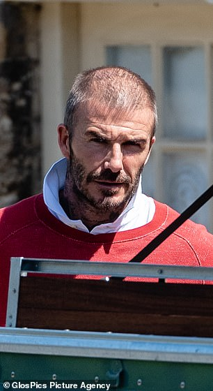 David Beckham would use a special thickening spray for thicker, more natural hair.