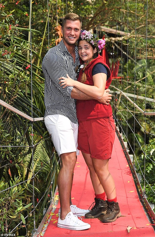 On the road to recovery: During Jacqueline's stay in the jungle I'm A Celebrity (photo last year), Dan was struck by other allegations of cheating and later apologized for things including he was not proud