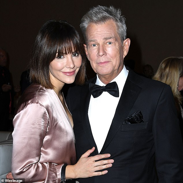 Showbiz power couple:Shortly after Katharine completed her run in the West End show she and David married in the British capital making her his fifth wife