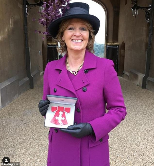 The couple, who were set to marry today, are staying with Edo's mother Nikki Shale at her £1.5 million home in Chipping Norton (pictured, Nikki)