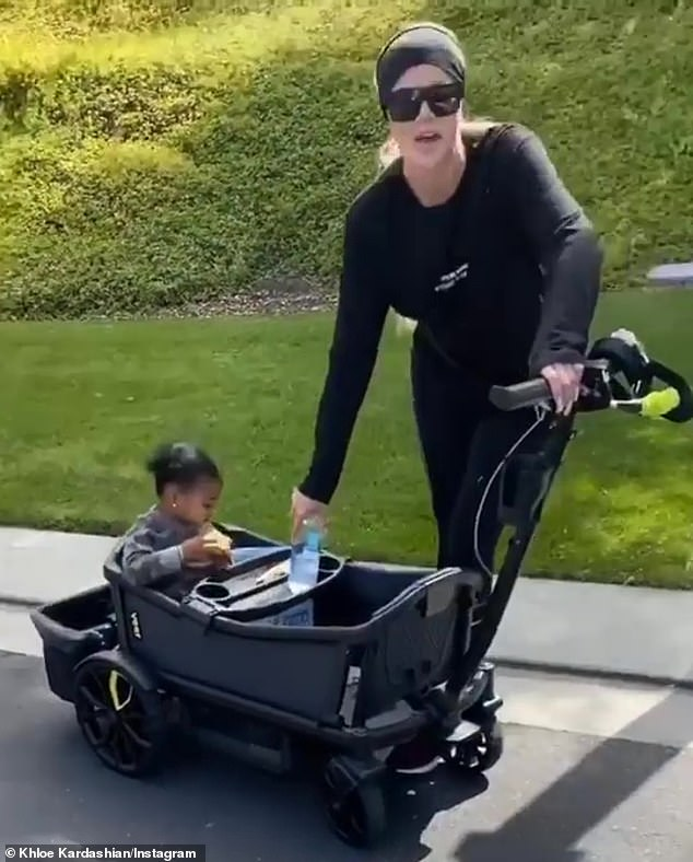 Training partner: He posted a video the day before to the profile of his baby girl who helped him exercise