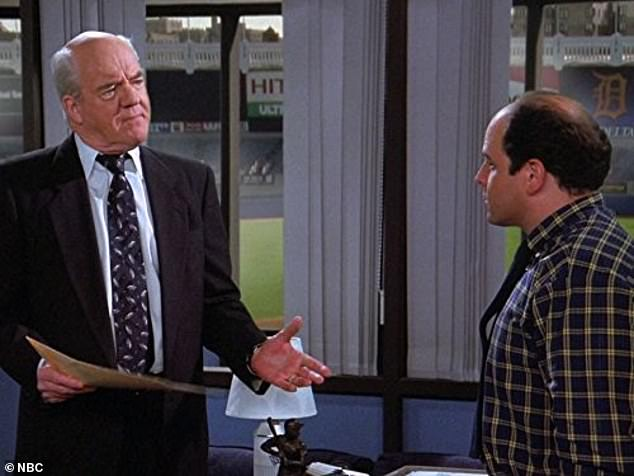 A memorable appearance: The star may have been best known for his role on Seinfeld as George Costanza's boss at the Yankees; seen with Jason Alexander, right