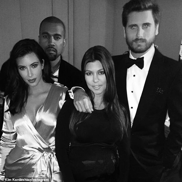 Birthday: Kim and Khloe Kardashian, along with Kris and Kylie Jenner, wished Scott a happy 37th birthday on Tuesday