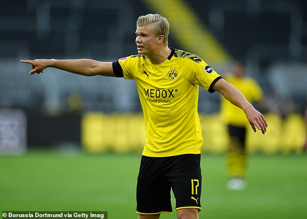 Erling Haaland struggled to replicate his fine scoring form when it counted on Tuesday