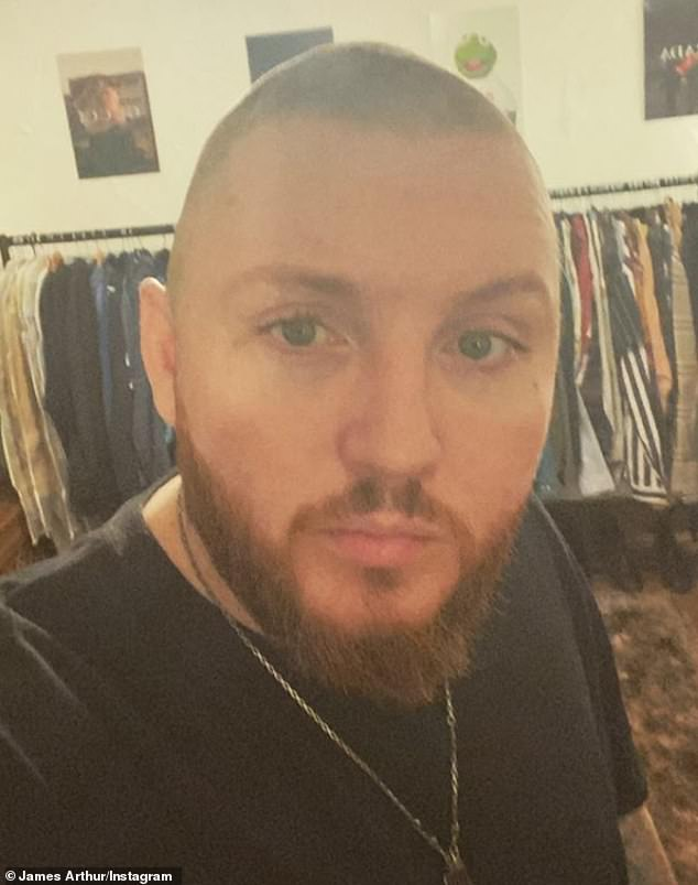 Locked: X Factor winner James Arthur admitted having piled on pounds during the lockdown, easing his boredom by eating cake