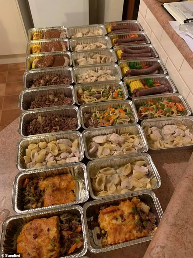 Meal prepping is a clever way to cut costs on groceries; South Australian chef Stacey Randall makes these 25 hearty dinners in bulk once a month at a cost of $110 - just $4.40 a meal