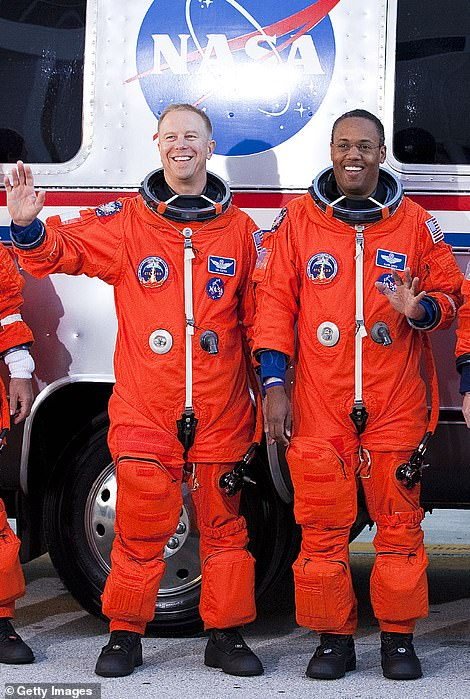 NASA's orange 'pumpkin suits' (right) are fashioned from Nomex