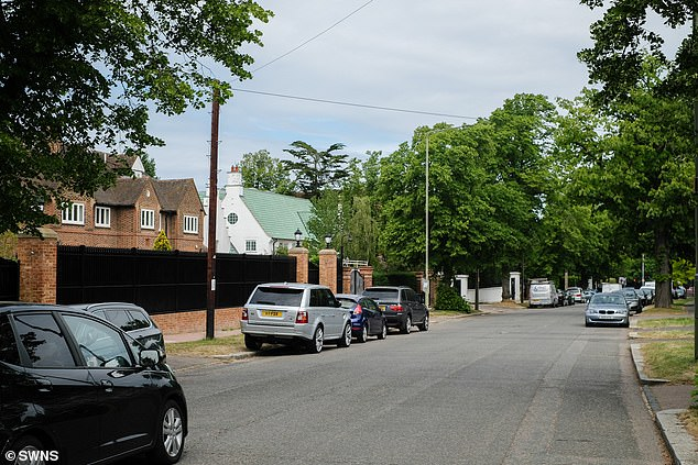 Bishops Avenue (pictured today) houses some of the wealthiest individuals in the country