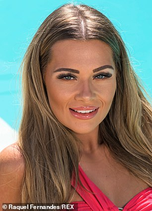 Different: Shaughna photographed in front of her entrance to Love Island in January