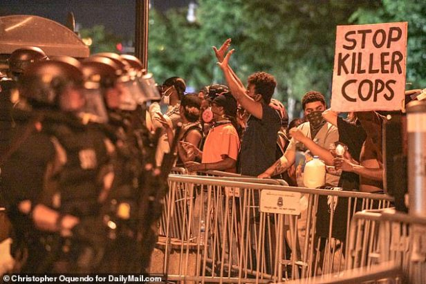 There has been days of unrest in Minneapolis over Floyd's death at the hands of four white cops, one of whom knelt on his neck for six minutes until he lost consciousness during his arrest for allegedly trying to use a fake $20 bill