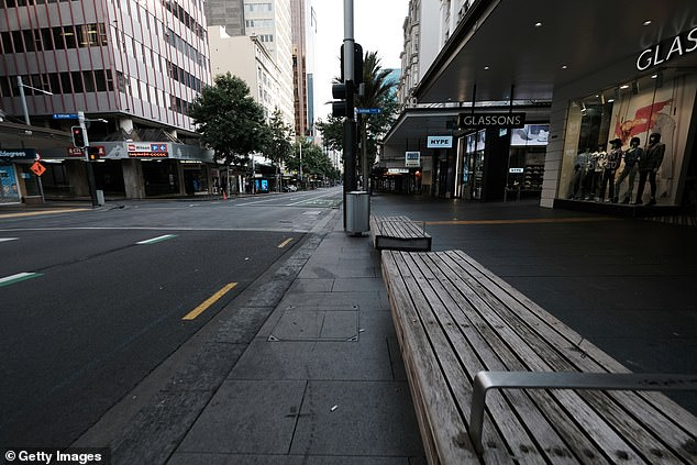 Queen Street in Auckland, New Zealand, (pictured March 26, 2020) is completely empty on first day of nationwide lockdown