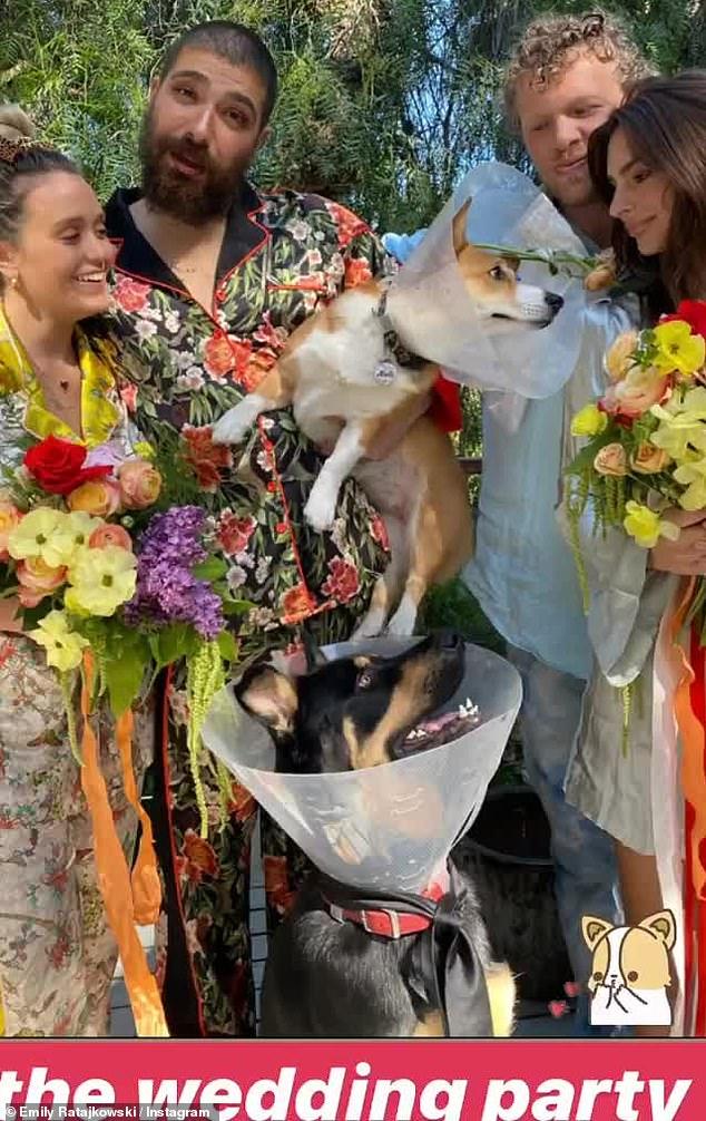 Puppy love: They recently threw a dog wedding with friend Josh 'Fat Jewish' Ostrovsky and wife Katie Sturino