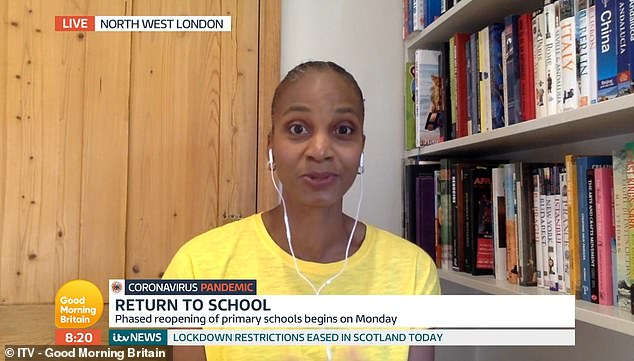 Child psychologist and education expert Laverne Antrobus (pictured), from North West Londonfeels children will adjust quickly to changes made throughout the pandemic