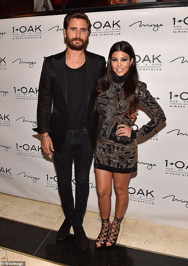 Scott has three children with Kourtney; Mason, 10, Penelope, seven, and Reign, five. They are dated nine years from 2006 to 2015. The former couple is seen in May 2015 just before their breakup.