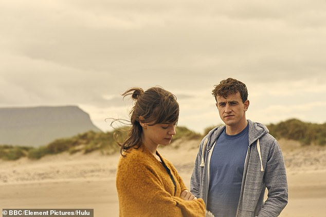 `` Brutal '': in the drama, Connell becomes depressed after his childhood friend committed suicide, and Paul said: `` They called cut and I was still bawling '' (photo with the co-star Daisy Edgar-Jones)