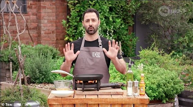 Melissa's favourite dish comes just months after her MasterChef co-host Andy Allen (pictured) shared his secret to the perfect 'restaurant-quality' scrambled eggs in 10 seconds