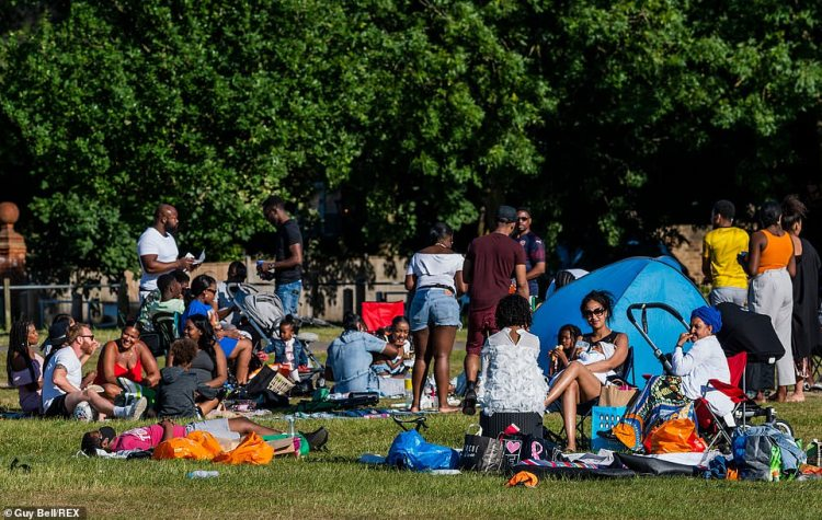 Large groups, mainly of young people, continue to breach the existing rules and even the eased rules coming in to force tomorrow, in Clapham Common, South London