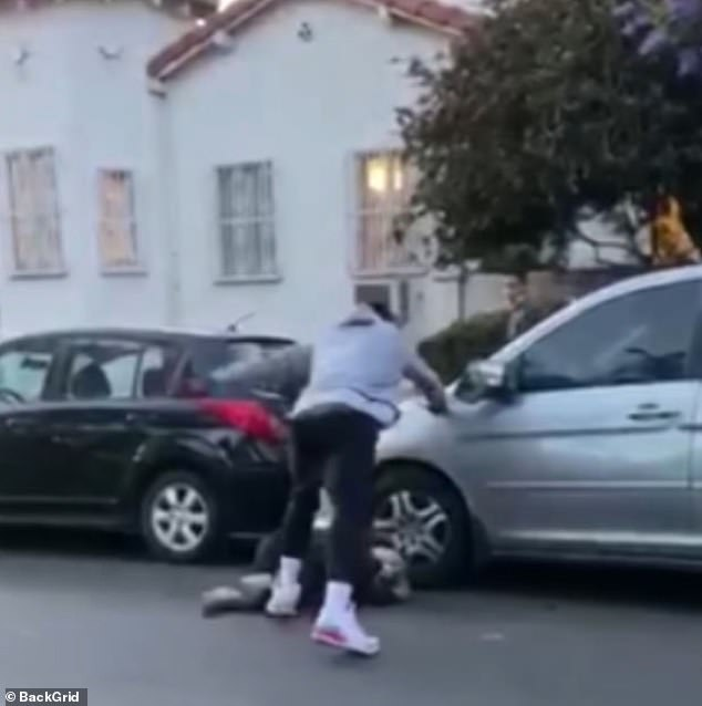 NBA basketball star J.R. Smith has been caught on video beating up a person who he claimed vandalized his truck and smashed its windows during police brutality protests in Los Angeles over the weekend