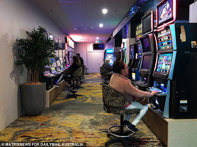 One tradie told Daily Mail Australia he was so excited to get back on the gaming machines that he snuck away for an hour at lunchtime