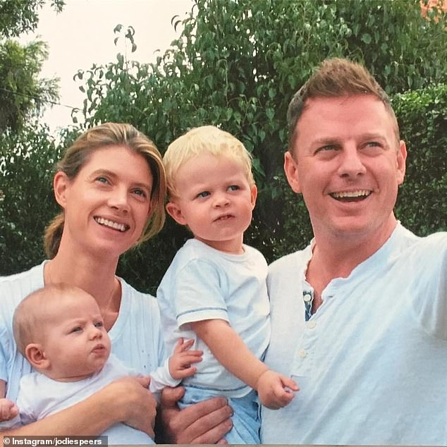 The new 2GB breakfast host (above, with son Freddie, daughter Pearl and wife Jodie) revealed he was moved to tears during a family meeting