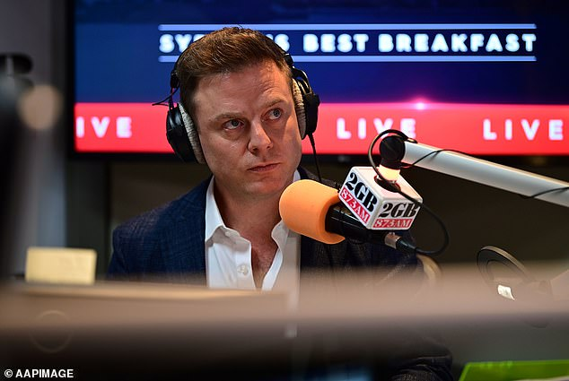 Fordham during his inaugural breakfast show on Monday morning after taking over Alan Jones's show